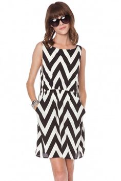 Forever zig zag tank dress in classic