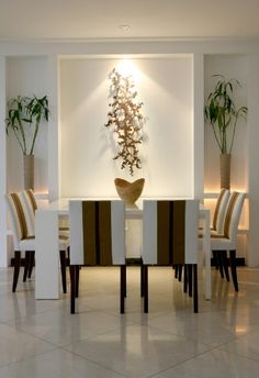 Dining Room - White elegance dining space.