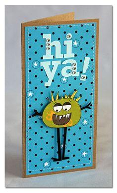 Hi Ya Card by Summer Fullerton using Jillibean Soup (via the Jillibean Soup blog).