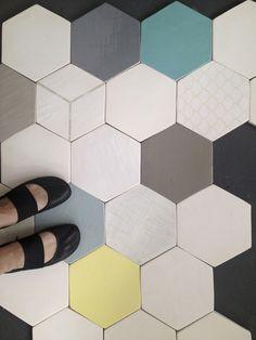 Hand made hexagon tile.