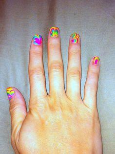 Tie Dye Nails |