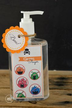 Halloween Gift--Germ Slayer Hand Sanitizer/Soap | theidearoom.net