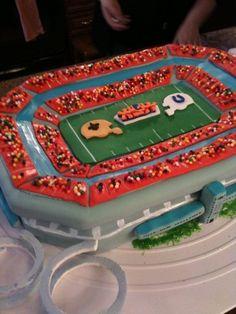 Thanks to Joseph Elfer for sending a picture of their Super Bowl XLIV cake! #Saints #NOLA #Cake