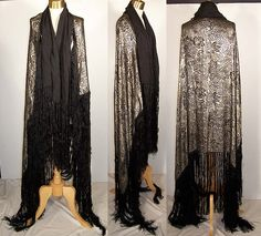 silver lame cape with fringe