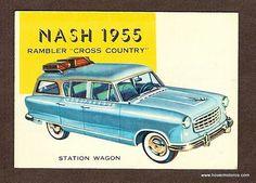 1955 Nash Rambler Cross-Country Station Wagon.