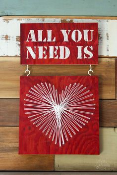 All You Need Is...Valentine String Art & Engraving - via @pretty things Handy Girl