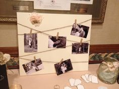 wedding photo board