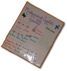 mathematical symbols & notations
