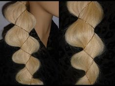 ▶ Лёгкая причёска.КОСА с лентой за 1 МИНУТУ.EASY Braid Hairstyles.Coiffures.Peinados con Trenzas - YouTube