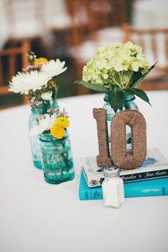 Rope table numbers #diy #wedding