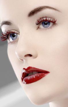 . redlip beauti, face, beauty makeup, maquillaj, eye makeup, flawless lipstick, makeup lips, red lips, hair