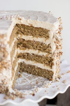 Spiced Oat Cake with Ginger Buttercream