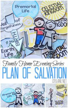 Family Home Evening Series: Plan of Salvation - free printables ldslane.net famili, lds free printables, plan of salvation printable, kid
