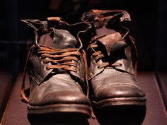 Shoes found in a leather suitcase on the Titanic