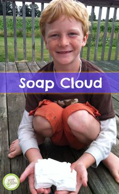 Try this fun kids' chemistry project! Ihttp://www.greenkidcrafts.com/soap-cloud/