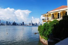 New and old Panama City, Republic of Panama