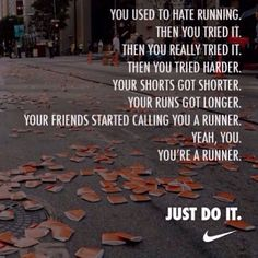 Yeah, you're a runner.