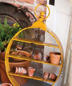 Loving this Vintage Metal Oval Wall Shelf on #zulily! #zulilyfinds
