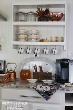 Styling a Fall Beverage Station