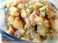 """A Feast for the Eyes: Authentic German Potato Salad (Bavarian Kartoffel Salat), from My """"Mutti"""""""