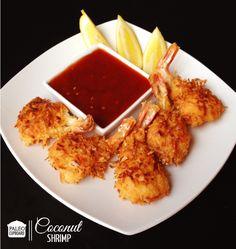 Paleo Coconut Shrimp with Sweet and Sour Sauce - paleocupboard.com