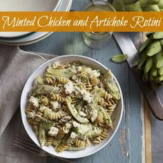 This quick chicken and pasta dish gets a fresh boost from mint leaves. #recipes