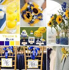Navy blue and yellow sunflower theme.