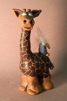 Поделки из глины жираф 92
