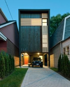 Exterior of a great-looking house to show the car parking space and driveway - looks so cool!