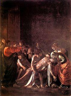 Die Auferweckung des Lazarus, öl von Caravaggio (Michelangelo Merisi) (1571-1610, Italy)