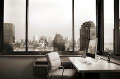 Matt Bango's stunning office overlooking Manhattan.