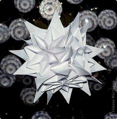 "Master class Kusudama, Origami: Kusudama ""icicles"", MC.  Paper New Year.  Photo 1"