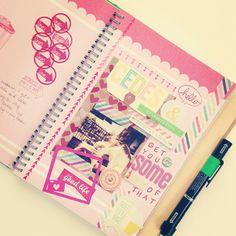 "#smashbook green ""tasty"" notebook"