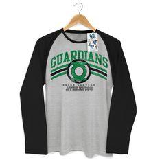 Camiseta Manga Longa Raglan Masculina Lanterna Verde Guardians Athletics #lanternaverde #greenlantern #dccomics #comics #lojadccomics