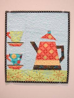 Patchwork Duck Designs: Coffee Pot Wall Hanging - Paper Pieced! quilt