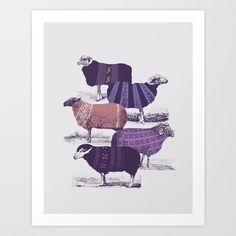 Cool Sweaters Art Print by Jacques Maes - $17.00