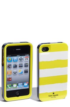 bright yellow striped iphone case