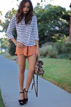 ashley... coral shorts
