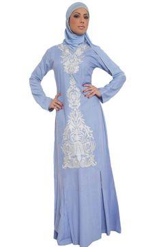 Alvina Formal Long Maxi Dress - Modest Islamic Fashion at Artizara.com