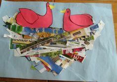 crayonfreckles: Making a Newspaper Nest from JDaniel4s Mom