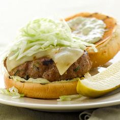 Leftover Turkey Recipe: Turkey Burgers with Poblano Pesto Aioli