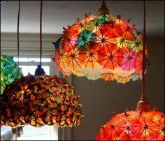 Cocktail umbrella lamp shade