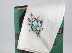 Girls Scout Handkerchief Embroidered