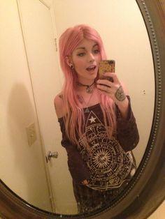 pink hair leda muir