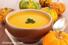 Do you love butternut squash soup?  Then you have to try these 6 Autumn Superfoods and Recipes #skinnyms #cleaneating #autumn recipes