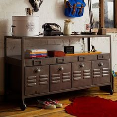 industrial cabinet#industrial. I would love to have this as a T.V. stand