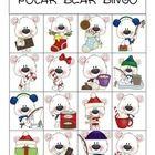 Free! Polar Bear Bingo….can target visual discrimination and verbalizing/describing . 5 gameboards!
