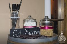 A 'Smores bar!  http://faith-michele.com/kelsie-brett-at-wilson-creek-winery-orange-county-wedding-photographer/