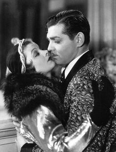 Myrna Loy and Clark Gable in Manhattan Melodrama, 1934.
