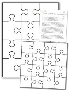Puzzle your Vocabulary Activity